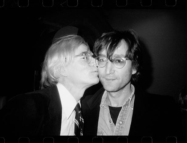 andy kissing john